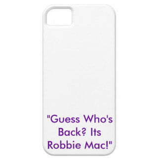 Robbie Mac Official iPhone Case