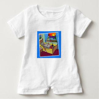 Robbie Robot White Baby Romper 6-24 months Baby Bodysuit