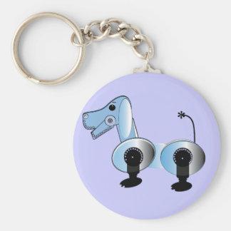 Robbie Steampunk Dog Basic Round Button Key Ring