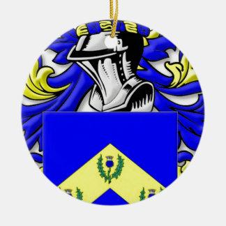 Robbins Coat of Arms Round Ceramic Decoration