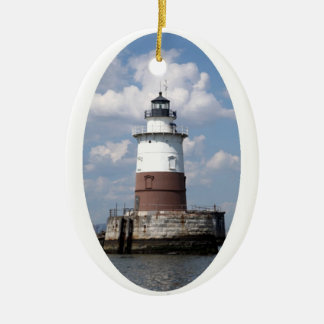 Robbins Reef Lighthouse Christmas Ornament