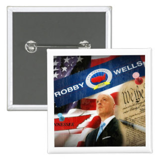 Robby Wells for President 2016 15 Cm Square Badge
