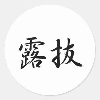 Robert-3 In Japanese is Round Sticker