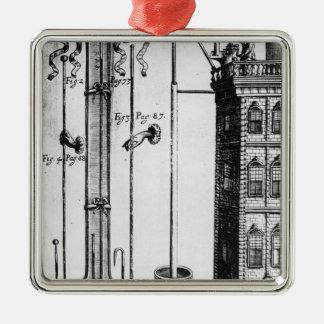 Robert Boyle's development of the water pump Christmas Ornament