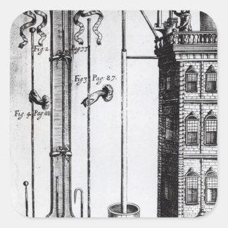 Robert Boyle's development of the water pump Square Sticker