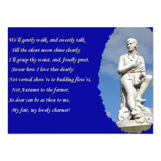 Robert Burns (1759–1796) Poems and Song 14 Cm X 19 Cm Invitation Card