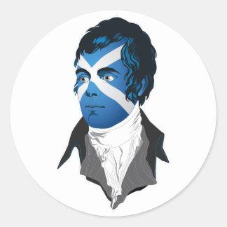 Robert Burns, a Great Scot! Round Sticker