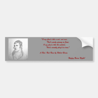 Robert Burns Bumper Sticker