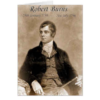 ROBERT BURNS CARD