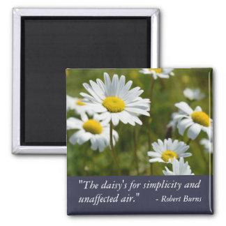 Robert Burns Daisy Quote Square Magnet