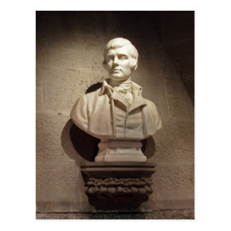 Robert Burns Decorative Bust Photograph Postcard