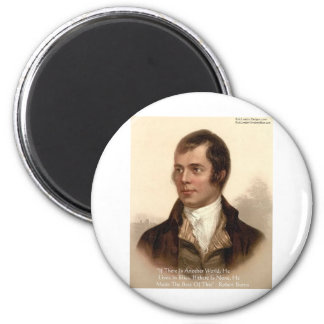 Robert Burns Famous Quote 6 Cm Round Magnet