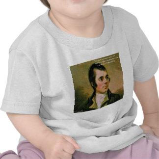 Robert Burns & Famous Suspicion Quote T-shirt