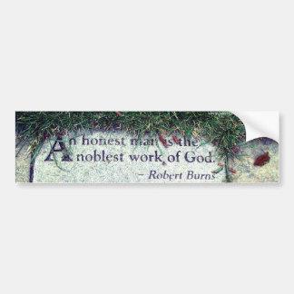 Robert Burns Quote Bumper Sticker
