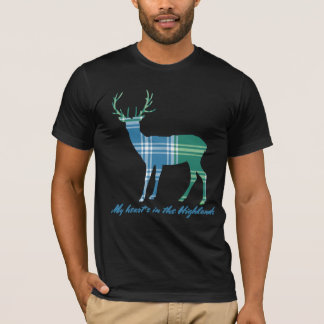 Robert Burns Quote Clan MacDonald Tartan Stag T-Shirt
