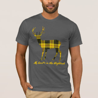 Robert Burns Quote MacLeod  of LewisTartan Stag T-Shirt