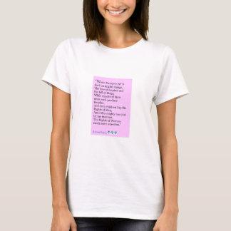 Robert Burns Quote, The Rights Of Women T-Shirt