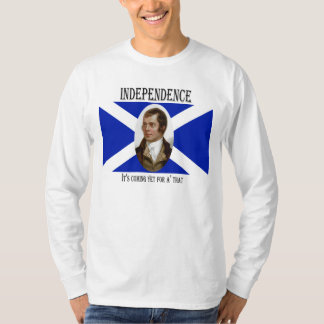 Robert Burns Scottish Independence Flag T-Shirt