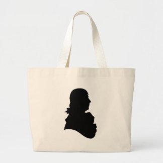 robert burns silhouette tote bags