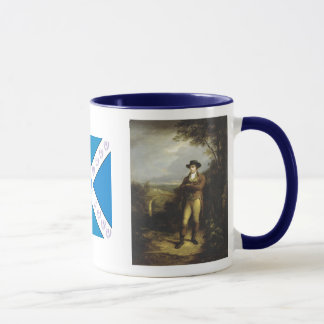 Robert Burns with the Scottish Saltire Coffee Mug