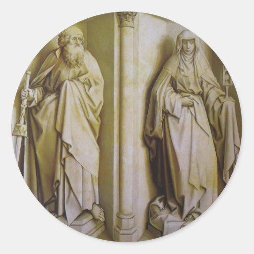 Robert Campin- The Nuptials of the Virgin Stickers