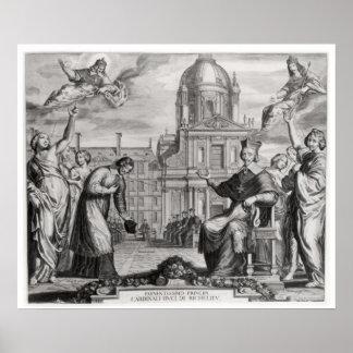 Robert de Sorbon  and Cardinal Richelieu Poster