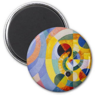 Robert Delaulay - Circular Forms 6 Cm Round Magnet