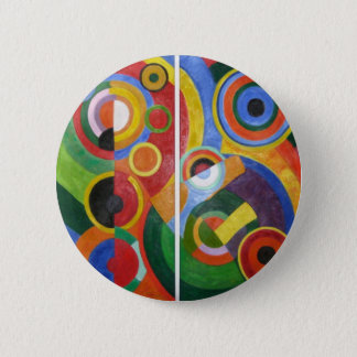 Robert Delaunay abstract art 6 Cm Round Badge