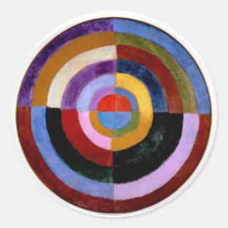 Robert Delaunay abstract art Round Sticker