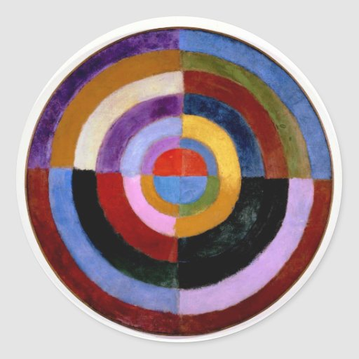Robert Delaunay abstract art Stickers