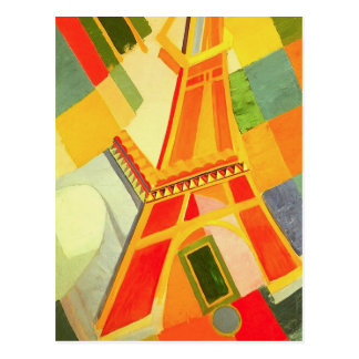 Robert Delaunay Eiffel Tower Postcard