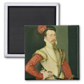 Robert Dudley (1532-88) 1st Earl of Leicester, c.1 Square Magnet