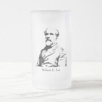 Robert E. Lee - Confederate Hero Frosted Glass Mug