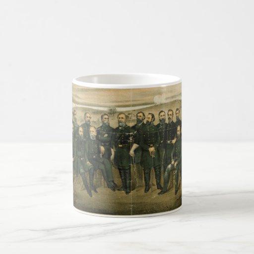 Robert E. Lee & his Civil War Confederate Generals Mugs