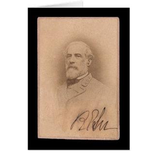 Robert E. Lee Signed Card 1860