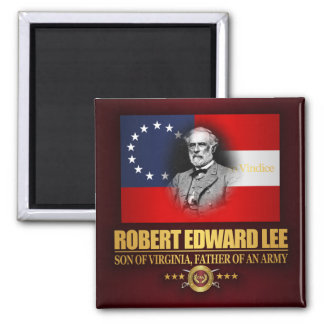 Robert E Lee (Southern Patriot) Square Magnet