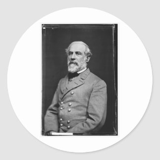 Robert E Lee Round Sticker