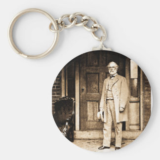 Robert E. Lee - Vintage Mathew Brady Basic Round Button Key Ring
