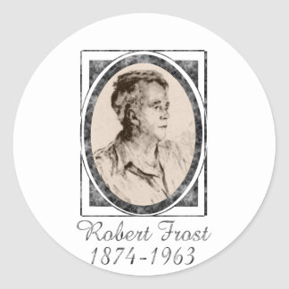 Robert Frost Classic Round Sticker