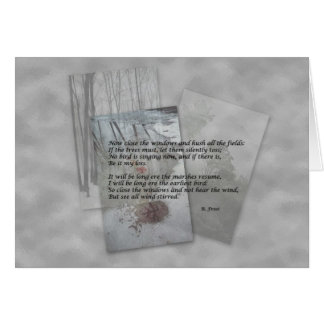 Robert Frost poetry Card