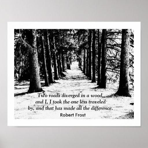 Robert Frost - Quote Print
