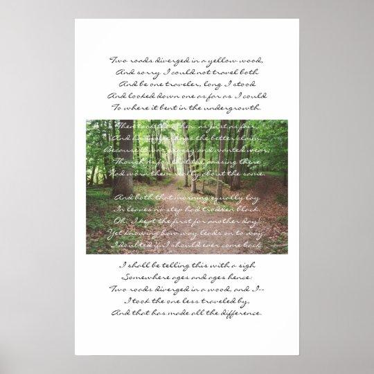 Robert Frost - The Road Not Taken Poster