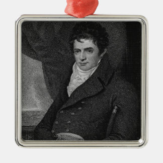 Robert Fulton (1765-1815), engraved by George Park Christmas Ornament