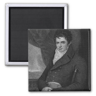Robert Fulton (1765-1815), engraved by George Park Square Magnet