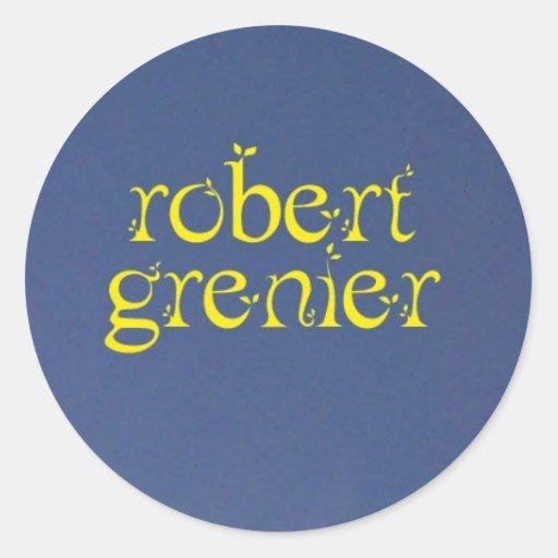 Robert Grenier Name Sticker