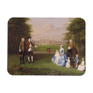Robert Gwillym of Atherton and his Family, c.1745- Rectangular Photo Magnet