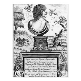 Robert Herrick , engraved by the artist Postcard