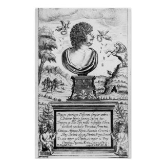 Robert Herrick , engraved by the artist Poster