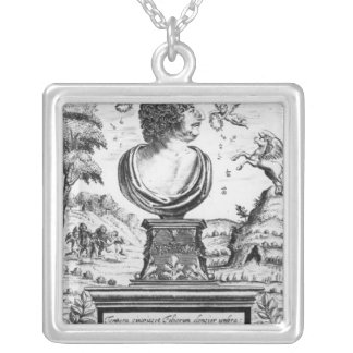 Robert Herrick , engraved by the artist Silver Plated Necklace