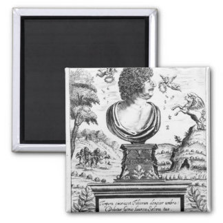 Robert Herrick , engraved by the artist Square Magnet